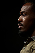 DALLAS, TX - MAY 12:  Jon Jones looks on during the UFC Summer Kickoff Press Conference at the American Airlines Center on May 12, 2017 in Dallas, Texas. (Photo by Cooper Neill/Zuffa LLC/Zuffa LLC via Getty Images) ***Local Caption***  Jon Jones