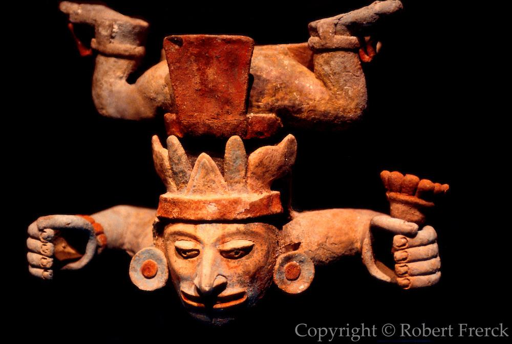 MEXICO, MEXICO CITY, MUSEUM Mayan polychrome, incense burner