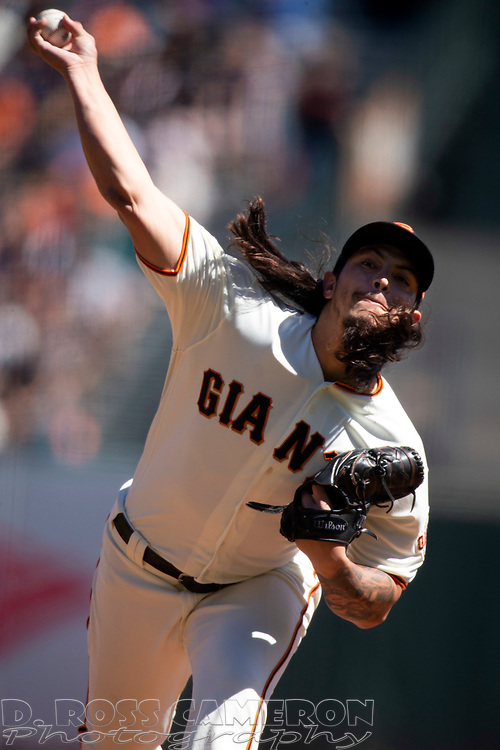 Sep 16, 2018; San Francisco, CA, USA; San Francisco Giants starting pitcher Dereck Rodriguez (57) delivers against the Colorado Rockies during the first inning of a Major League Baseball game at AT&T Park. Mandatory Credit: D. Ross Cameron-USA TODAY Sports