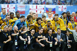 July 14, 2018 - Saint Petersbourg, Russie - SAINT PETERSBURG, RUSSIA - JULY 14 :celebration of the Belgian players during the FIFA 2018 World Cup Russia Play-off for third place match between Belgium and England at the Saint Petersburg Stadium on July 14, 2018 in Saint Petersburg, Russia, 14/07/18 (Credit Image: © Panoramic via ZUMA Press)