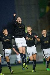 Falkirk's Blair Alston scoring their goal. <br /> Falkirk 1 v 0 Dumbarton, Scottish Championship game played 26/12/2015 at The Falkirk Stadium.