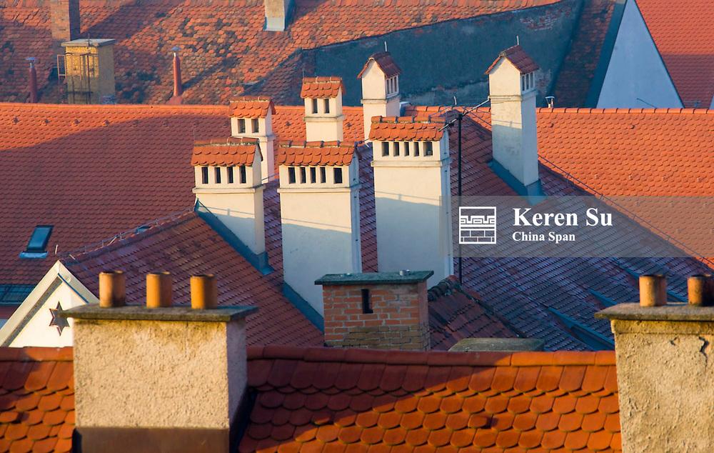 Red-roofed houses, Ptuj, Slovenia