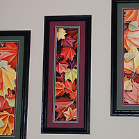 Sheree K. in Laveen, AZ has Waltz in Red staggered along the staircase.