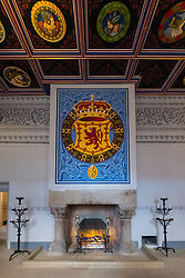 View of King's Inner Hall inside Royal Palace at  Stirling Castle in Stirling, Scotland, United Kingdom.