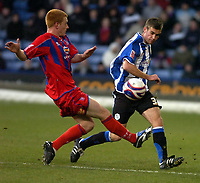 Photo: Matt Bright/Sportsbeat Images.<br /> Crystal Palace v Sheffield Wednesday. Coca Cola Championship. 15/12/2007.<br /> Ben Watson of Crystal Palace & Tommy Spurr of Sheffield Wednesday
