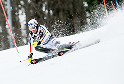 """David Ketterer (GER) competes during 1st Run of FIS Alpine Ski World Cup 2017/18 Men's Slalom race named """"Snow Queen Trophy 2018"""", on January 4, 2018 in Course Crveni Spust at Sljeme hill, Zagreb, Croatia. Photo by Vid Ponikvar / Sportida"""