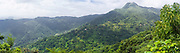 Panoramic view of El Yunque National Forest, looking west over the Rio Cubuy, Puerto RIco.