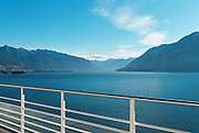 terrace of a penthouse on the lake, landscape