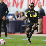 HARRISON, NEW JERSEY- OCTOBER 16:  Harrison Afful #25 of Columbus Crew in action during the New York Red Bulls Vs Columbus Crew SC MLS regular season match at Red Bull Arena, on October 16, 2016 in Harrison, New Jersey. (Photo by Tim Clayton/Corbis via Getty Images)