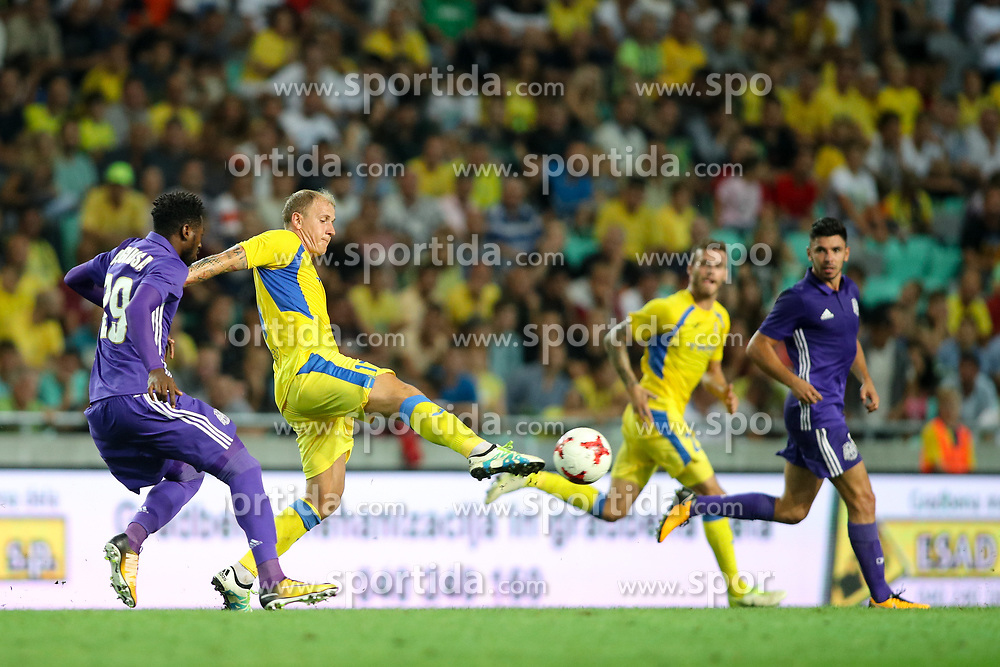 Senijad Ibricic of NK Domzale during football match between NK Domzale and Olympique de Marseille in First game of UEFA Europa League playoff round, on August 17, 2017 in SRC Stozice, Ljubljana, Slovenia. Photo by Morgan Kristan / Sportida