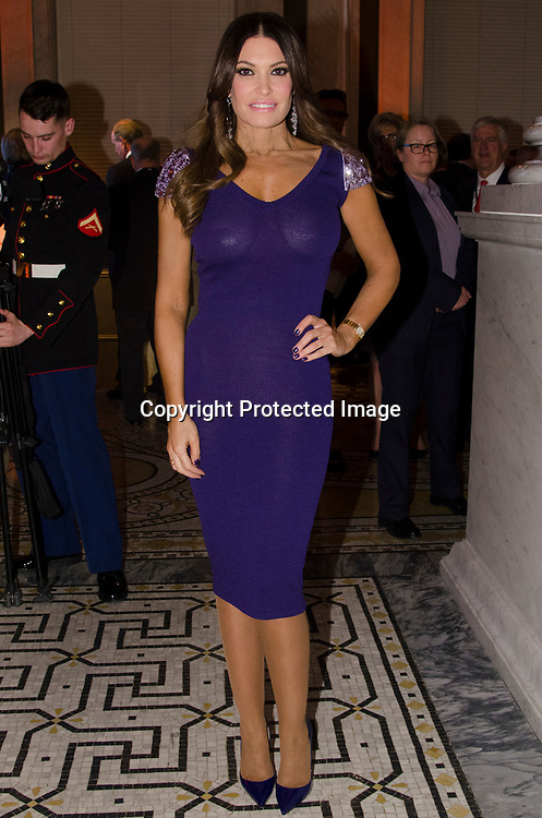 Fox News anchor Kimberly Guilfoyle attends the Cabinet Dinner at the Library of Congress - Madison Building in Washington DC on January 18, 2017.