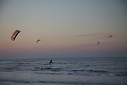 Kite boarding off Sulliavan's Island and Isle of Palms, SC.