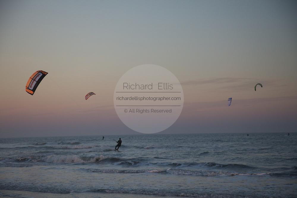 Kite boarding off Sulliavan's Island and Isle of Palms, SC.