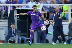 April 29, 2018 - Florence, Italy - Cristiano Biraghi of Fiorentina during the Serie A match between ACF Fiorentina and SSC Napoli at Stadio Artemio Franchi on April 29, 2018 in Florence, Italy. (Credit Image: © Matteo Ciambelli/NurPhoto via ZUMA Press)