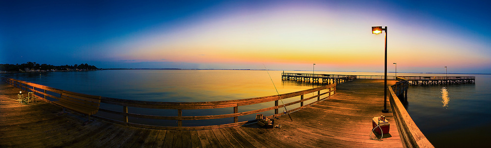 fishing and crabbing at Romancoke Pier in Stevensville Maryland