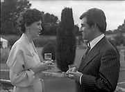 06/09/1978<br /> 09/06/1978<br /> 06 September 1978<br /> Reception for Mr. Sean Donlon, New Irish Ambassador to the United States, at the U.S. Embassy Residence, Phoenix Park, Dublin. Picture shows Elizabeth McNelly Shannon chatting with Sean Donlon at the event.