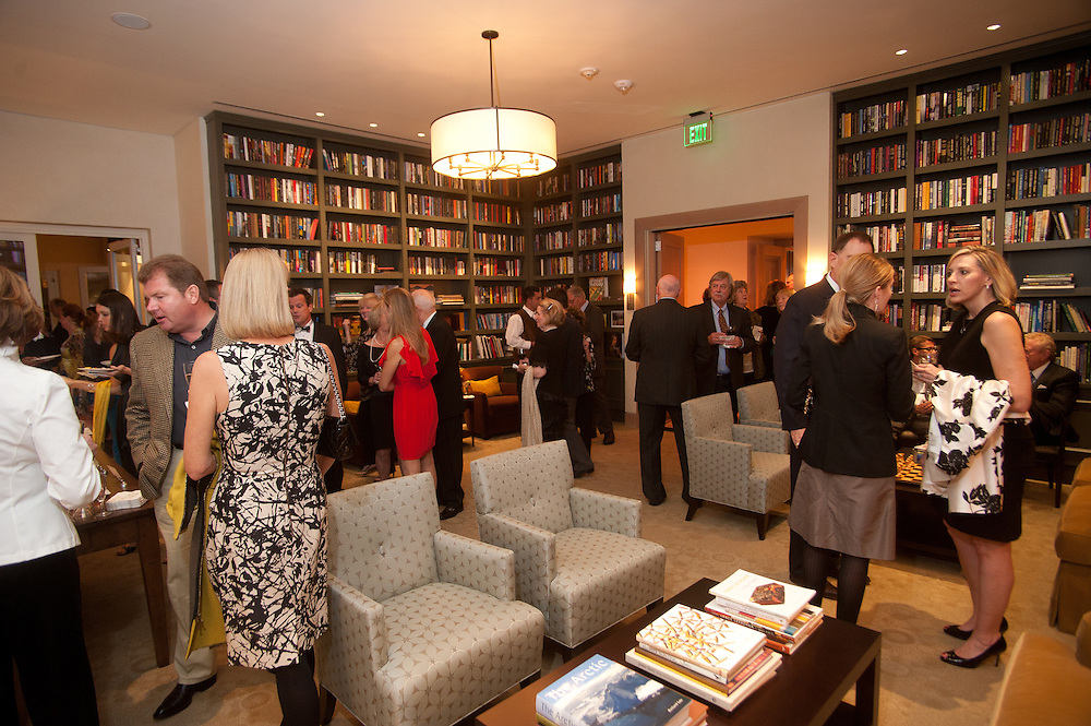 The Four Seasons Residences Austin hosted a party Friday night for current, future and prospective residents. Guests were able to tour the facilities and see such amenities as the library.