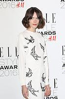 Stacy Martin, ELLE Style Awards 2016, Millbank London UK, 23 February 2016, Photo by Richard Goldschmidt