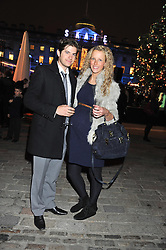JACK & KATE FREUD at a Winter Party hosted by Tiffany to celebrate the opening of the Ice Rink at Somerset House for Christmas 2011 held on 21st November 2011.
