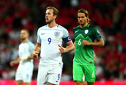 Harry Kane of England wears the captains armband for his country for the first time - Mandatory by-line: Robbie Stephenson/JMP - 05/10/2017 - FOOTBALL - Wembley Stadium - London, United Kingdom - England v Slovenia - World Cup qualifier