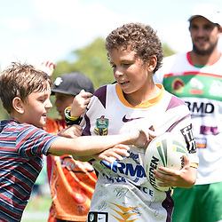BRISBANE, AUSTRALIA - MARCH 18: Juniors in action during the NRL Development Junior Clinic and QRL training session at Ron Stark Oval on March 18, 2017 in Brisbane, Australia. (Photo by Patrick Kearney/Wynnum Manly Seagulls)