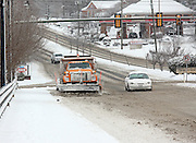 Snow plows covered in Charlottesville, Va.