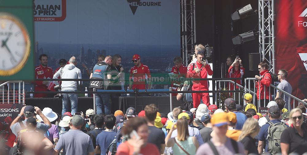 AU_1516651 - Melbourne, AUSTRALIA  -  Sebastian Vettel at the Australian Grand Prix at Albert Park in Melbourne Australia<br /> <br /> Pictured: Sebastian Vettel<br /> <br /> BACKGRID Australia 14 MARCH 2019 <br /> <br /> BYLINE MUST READ: FAMO / BACKGRID<br /> <br /> Phone: + 61 419 847 429<br /> Email:  sarah@backgrid.com.au