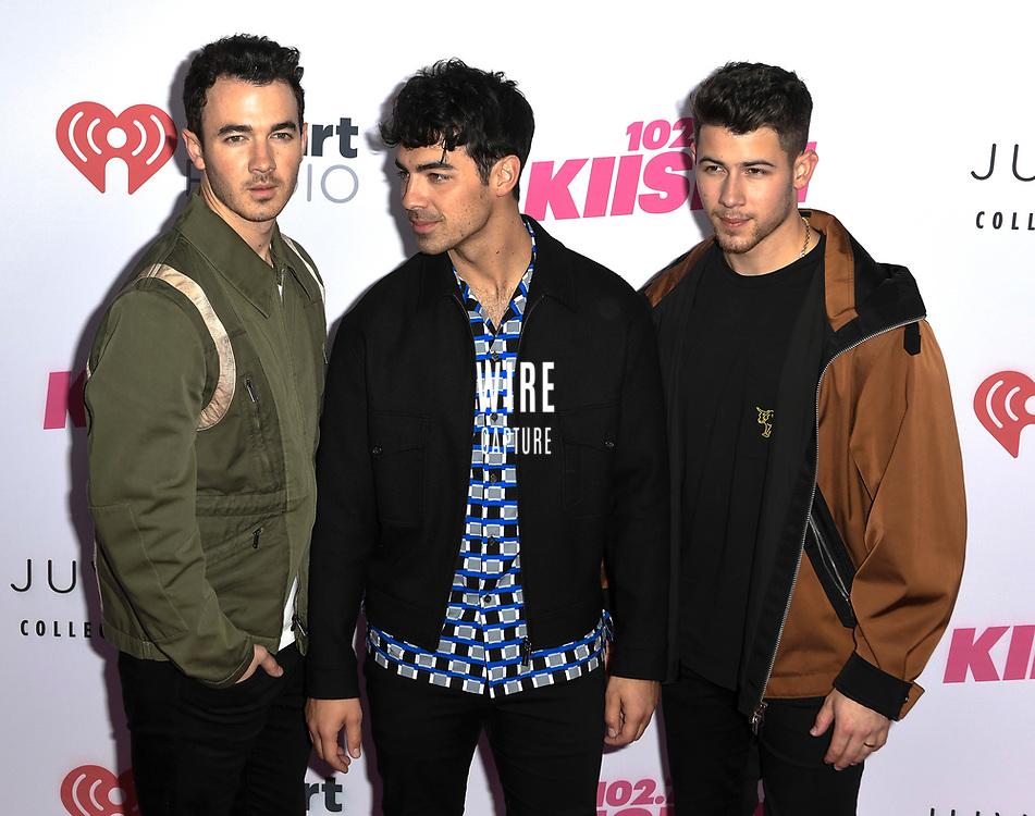 Jonas Brothers at iHeartRadio KIIS FM Wango Tango at the Dignity Health Sports Park.