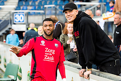 (L-R) Sylla Sow of FC Utrecht, Simon Makienok of FC Utrecht during the Dutch Eredivisie play-offs match between sc Heerenveen and FC Utrecht at Abe Lenstra Stadium on May 09, 2018 in Heerenveen, The Netherlands