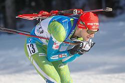 Fak Jakov of Slovenia competes during the IBU World Championships Biathlon 4x7,5km Relay Men competition on February 20, 2021 in Pokljuka, Slovenia. Photo by Vid Ponikvar / Sportida