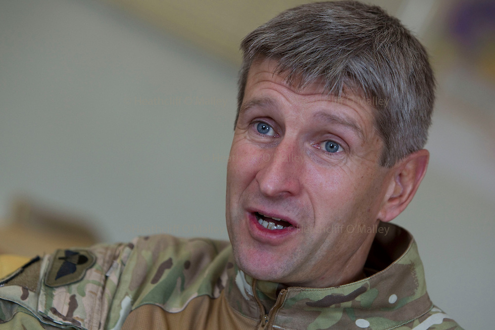 Mcc0027461  . Daily Telegraph..Brigadier James Chiswell, brigade Commander of 16 Air Assault photographed during an interview at his headquarters in Lashkar Gah..Helmand 24 November 2010.