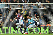 West Bromwich Albion defender Darnell Furlong (2) takes a shot at goal during the EFL Sky Bet Championship match between West Bromwich Albion and Derby County at The Hawthorns, West Bromwich, England on 14 September 2021.