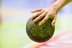 Ball during handball match between ZRK Mlinotest Ajdovscina and RK Zagorje in 17th Round of Slovenian Women Handball League 2015/16 on April 6, 2016 in Sports hall Police Ajdovscina, Ajdovscina, Slovenia. Photo By Urban Urbanc / Sportida