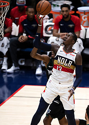 December 31, 2018 - New Orleans, LA, U.S. - NEW ORLEANS, LA - DECEMBER 31:   New Orleans Pelicans forward Cheick Diallo (13) drives to the basket against Minnesota Timberwolves at New Orleans Arena in New Orleans, LA on Oct 23, 2018.  (Photo by Stephen Lew/Icon Sportswire) (Credit Image: © Stephen Lew/Icon SMI via ZUMA Press)