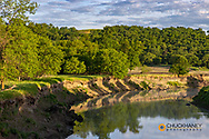 The Sheyenne River catches morning light near Fort Ransom, North Dakota, USA