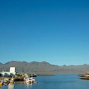 view of Reydharfjordur harbour