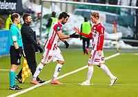 Fotball<br /> Tippeliga 2016<br /> Tromsø IL vs Strømsgodsen (2-0)<br /> <br /> Gjermund Åsen, Tromsø<br /> Sofiane Moussa, Tromsø<br /> <br /> NB!! Ikke for Nordlys!<br /> <br /> Foto: Tom Benjaminsen / Digitalsport