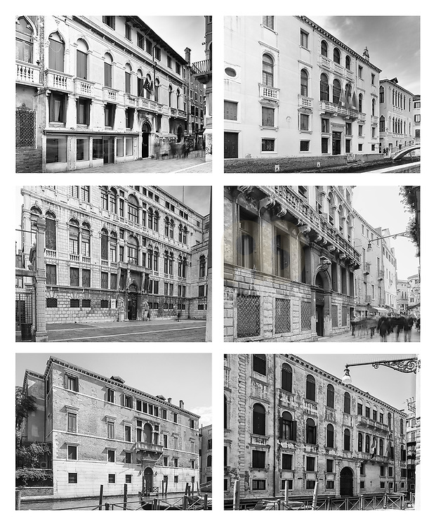 """Venice, Italy, Veneto : Comparison of the Venice Palace  """"Urban Space and Typologies"""" -  Venice urban studies 2013-2018. Photographs by Alejandro Sala 