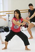Universities in Vienna, Austria..Konservatorium Wien Privatuniversität..Modern dance class. The teacher.