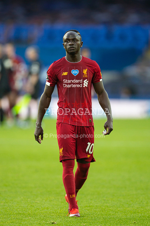 LIVERPOOL, ENGLAND - Sunday, June 21, 2019: Liverpool's Sadio Mané walks off the pitch after the FA Premier League match between Everton FC and Liverpool FC, the 236th Merseyside Derby, at Goodison Park. The game was played behind closed doors due to the UK government's social distancing laws during the Coronavirus COVID-19 Pandemic. The game ended in a goal-less draw. (Pic by David Rawcliffe/Propaganda)