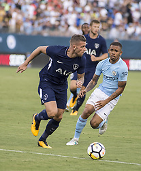 July 29, 2017 - Nashville, Tennessee, U.S.A - Tottenham player trying to get past Manchester City's defense. (Credit Image: © Hoss Mcbain via ZUMA Wire)