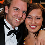 NLD/Amsterdam/20100918 - Inloop Orange Babies Gala 2010, Rutger Castricum en partner Daphne Rietbergen