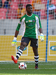 Daniel Akpeyi of Chippa United during the 1st leg of the MTN8 Semi Final between Chippa United and Mamelodi Sundowns held at the Nelson Mandela Bay Stadium in Port Elizabeth, South Africa on the 11th September 2016<br /><br />Photo by: Richard Huggard / Real Time Images
