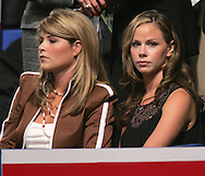 A 24 MG IMAGE OF:.Jenna and Barbara Bush at the Republican National Convention in New York, NY on August 31.2004. Photo by Dennis Brack