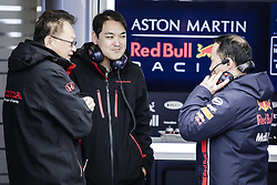 March 1, 2019 - Barcelona, Barcelona, Spain - Honda engines engineers talking with Red Bull engineers portrait during the Formula 1 2019 Pre-Season Tests at Circuit de Barcelona - Catalunya in Montmelo, Spain on March 1. (Credit Image: © Xavier Bonilla/NurPhoto via ZUMA Press)