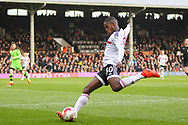 Ryan Sessegnon of Fulham sends in a cross during the Sky Bet Championship match at Craven Cottage, London<br /> Picture by Richard Brooks/Focus Images Ltd 07947656233<br /> 18/03/2017