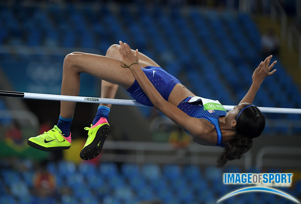 Aug 20, 2016; Rio de Janeiro, Brazil; Vashti Cunningham (USA) ties for 13th in the high jump at 6-2 (1.88m) during the 2016 Rio Olympics at Estadio Olimpico Joao Havelange. <br /> <br /> *