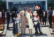 .President  and Nancy Reagan at Disney World in  June 1987..Photograph by Dennis Brack BS B14
