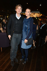 ARIZONA MUSE and MARK ABEGG DE BOUCHERVILLE at the Launch Of Osman Yousefzada's 'The Collective' 4th edition with special guest collaborator Poppy Delevingne held in the Rumpus Room at The Mondrian Hotel, 19 Upper Ground, London SE1 on 24th November 2014, sponsored by Storm models and Beluga vodka.