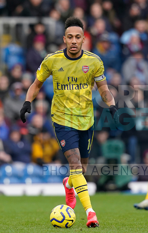 Pierre-Emerick Aubameyang of Arsenal  during the Premier League match at Turf Moor, Burnley. Picture date: 2nd February 2020. Picture credit should read: Andrew Yates/Sportimage